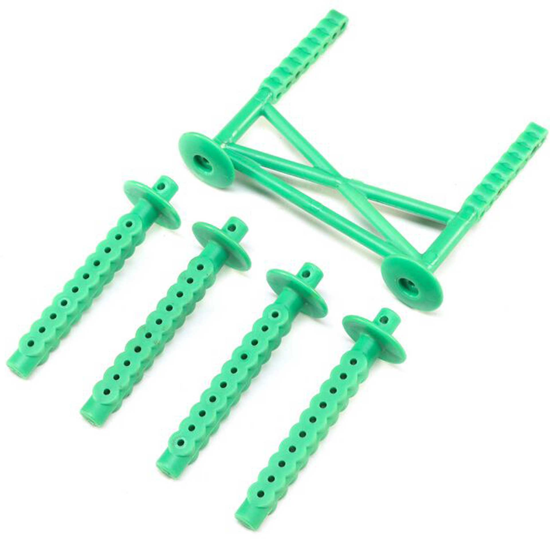 LOSI Rear Body Support and Body Posts, Green: LMT