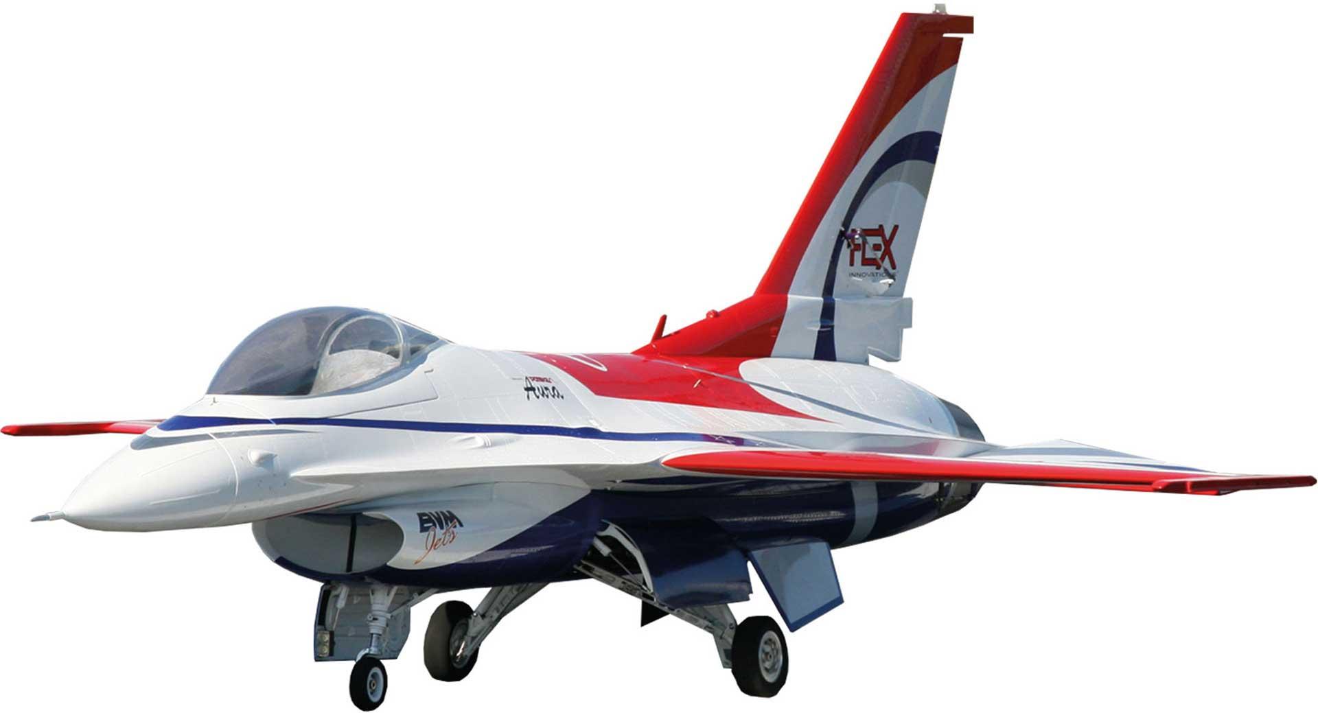 PREMIER AIRCRAFT F-16 QQ ARF 3D JET RED