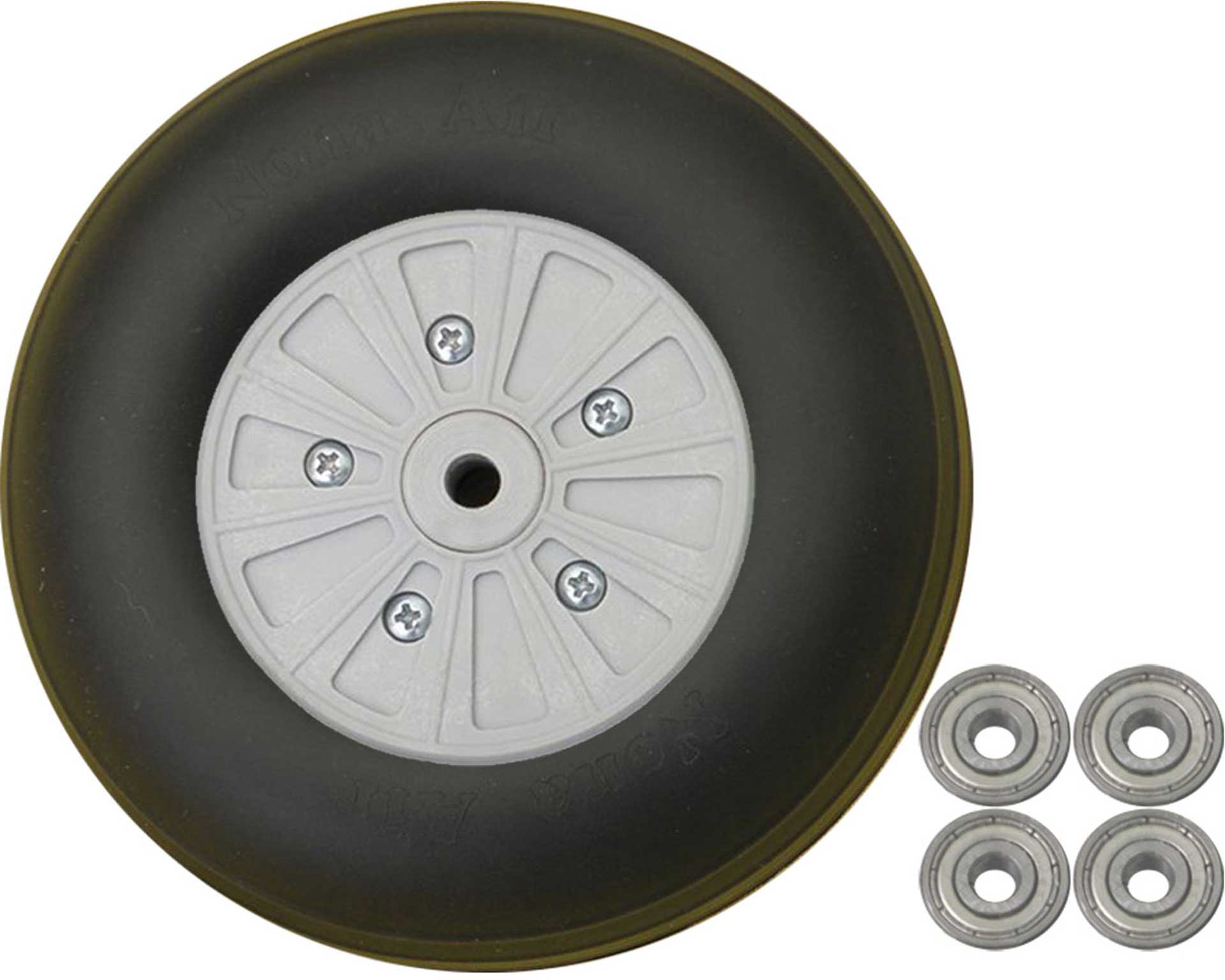 PLANET-HOBBY WHEELS HEAVY DUTY 125MM 2 PCS. WITH BALL BEARINGS