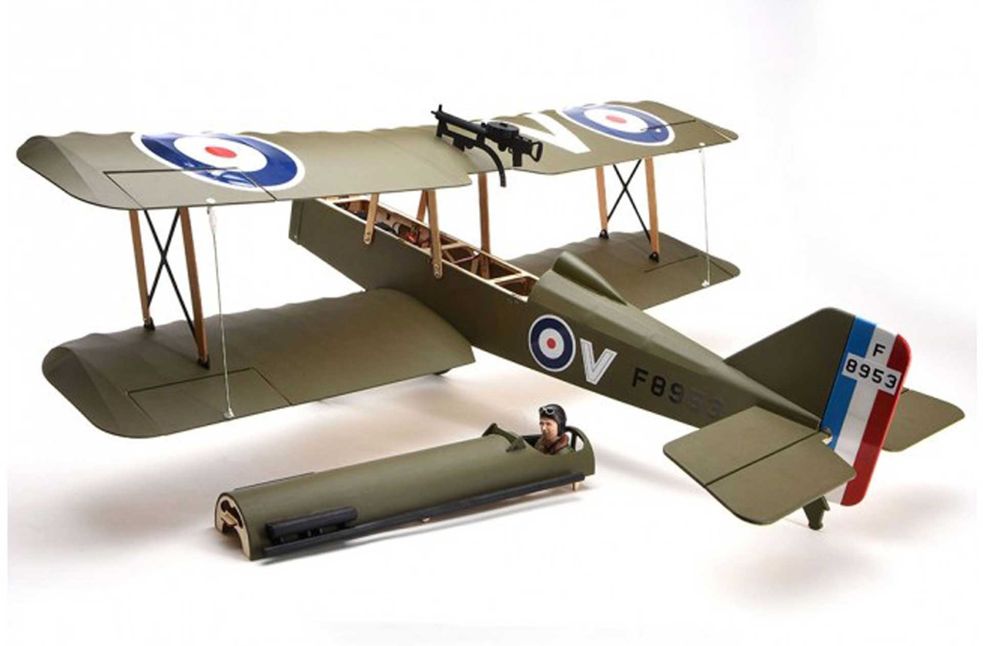 SUPER FLYING MODEL S.E.5A DOUBLE-DECKER WOODEN KIT FOR ELECTRIC OR BURNER DRIVE