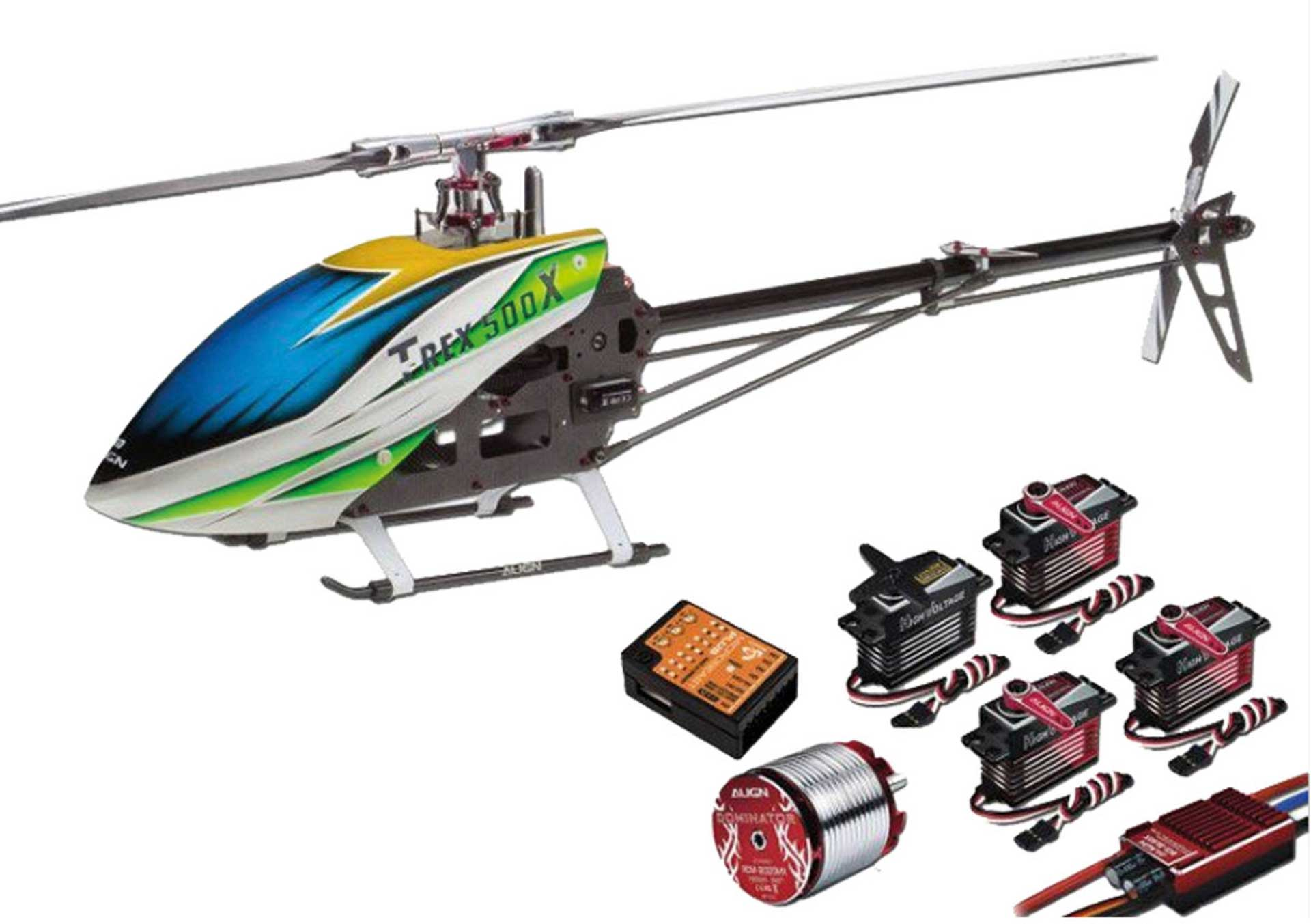 ALIGN T-REX 500X DOMINATOR SUPER COMBO + MB (DS530M/DS535M) Hubschrauber / Helikopter