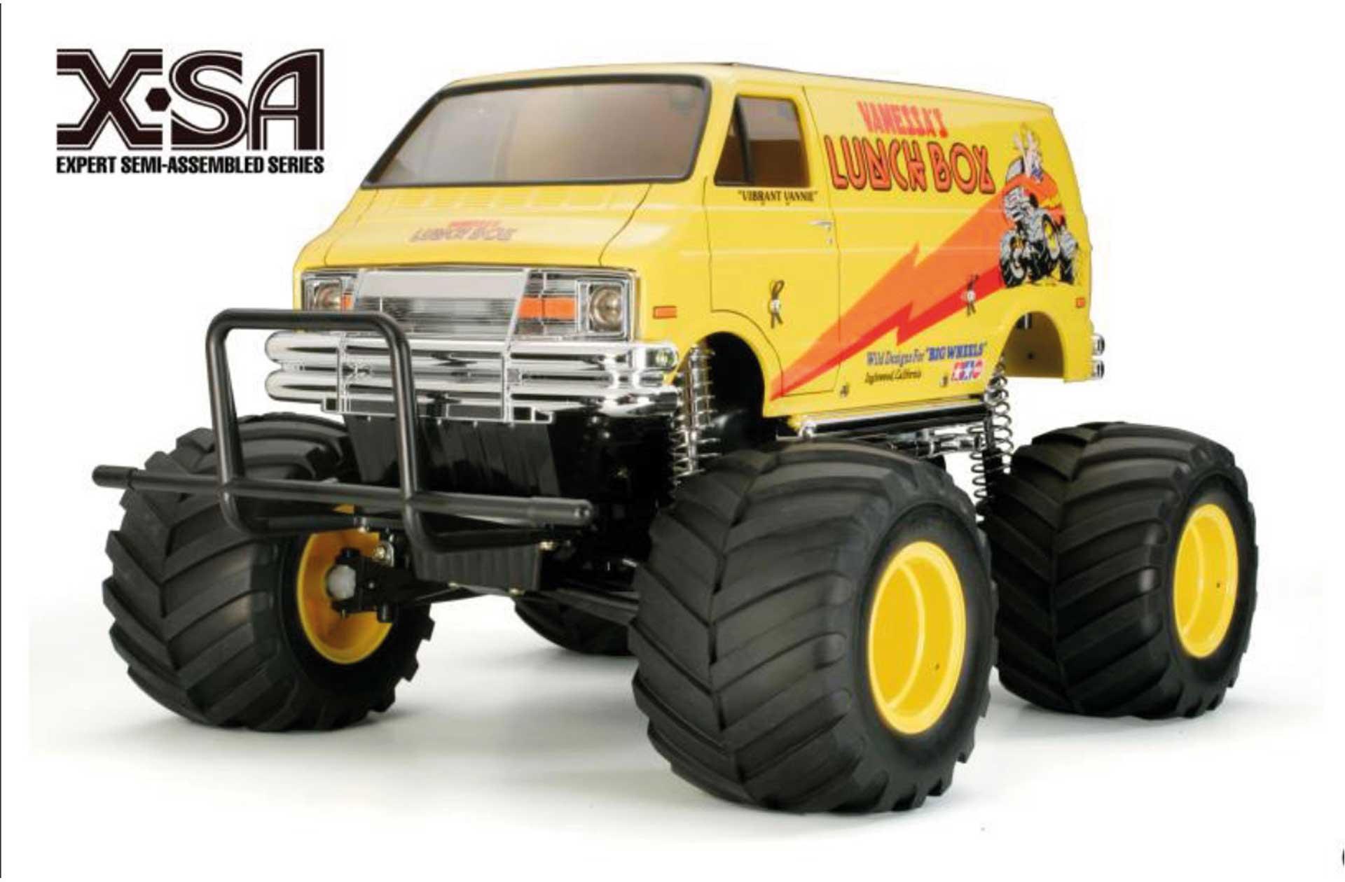 TAMIYA X-SA Lunch Box 1/12 EP 2WD aufgebautes Modell, Karosserie fertig