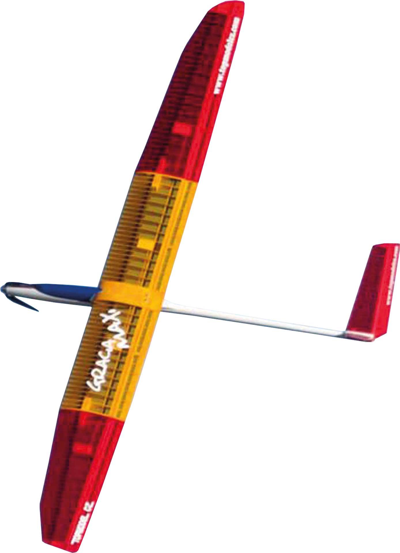TOPMODEL GRACIA MAXI ARF 3,5M ROT / GELB THERMIK ELEKTRO F5J MODELL