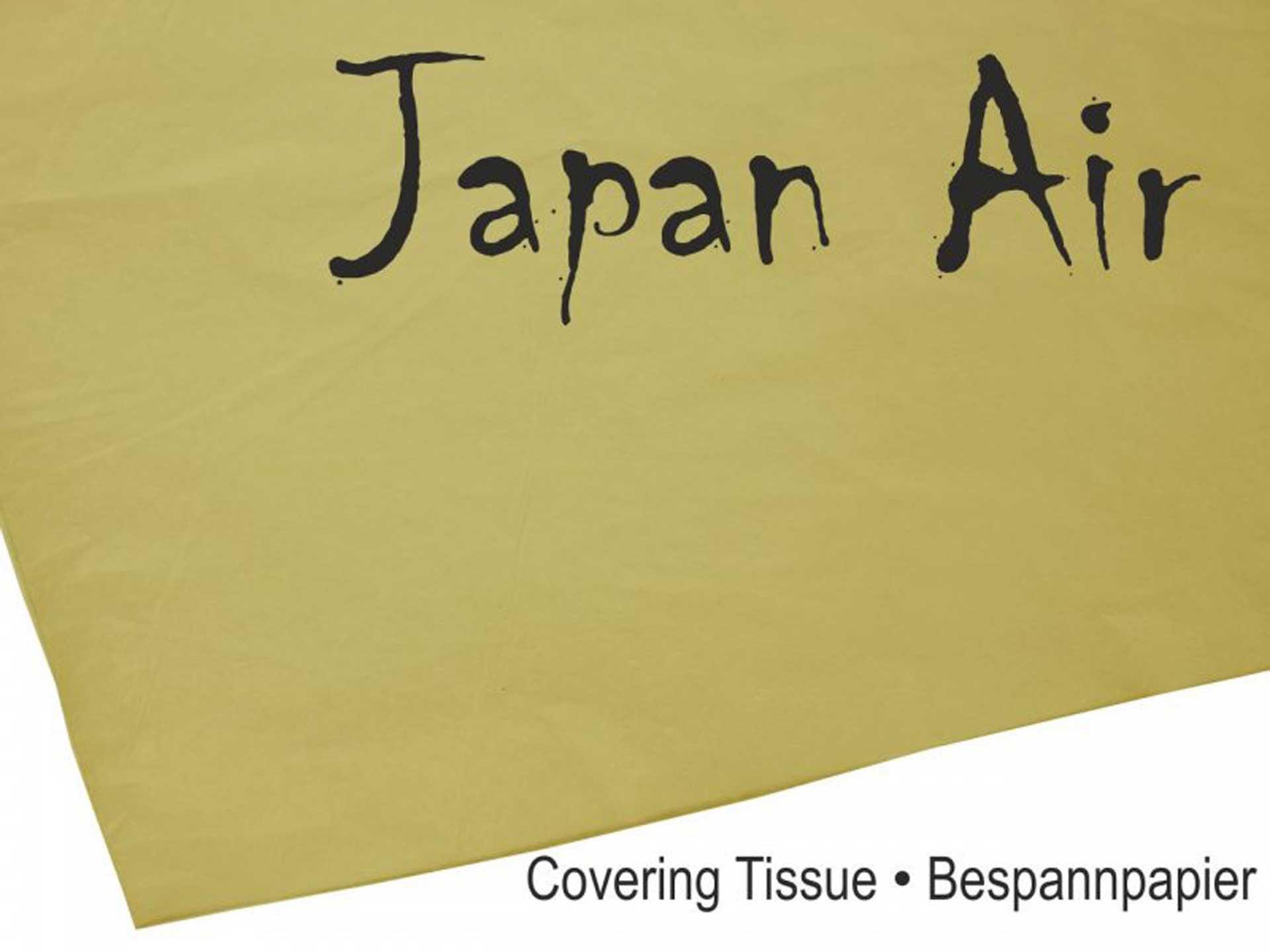 MODELLBAU LINDINGER JAPAN AIR Bespannpapier 16g braun 500 x 750 mm 10Stk. gerollt