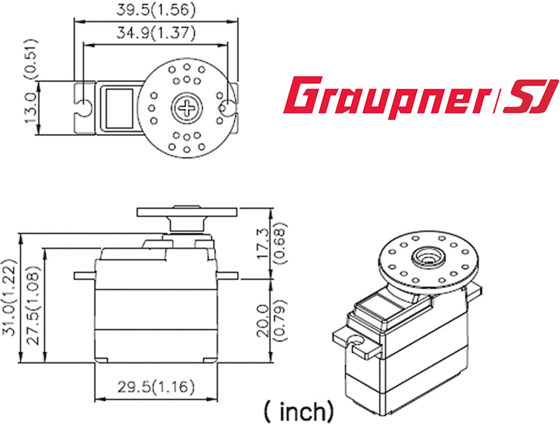 GRAUPNER DES 587 BB MG DIGITAL SERVO