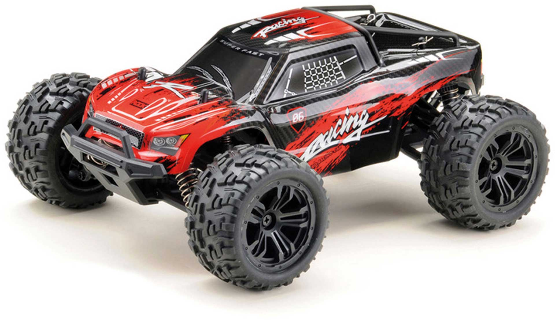 "ABSIMA 1:14 High-Speed Truck ""RACING"" 4WD RTR schwarz/rot"