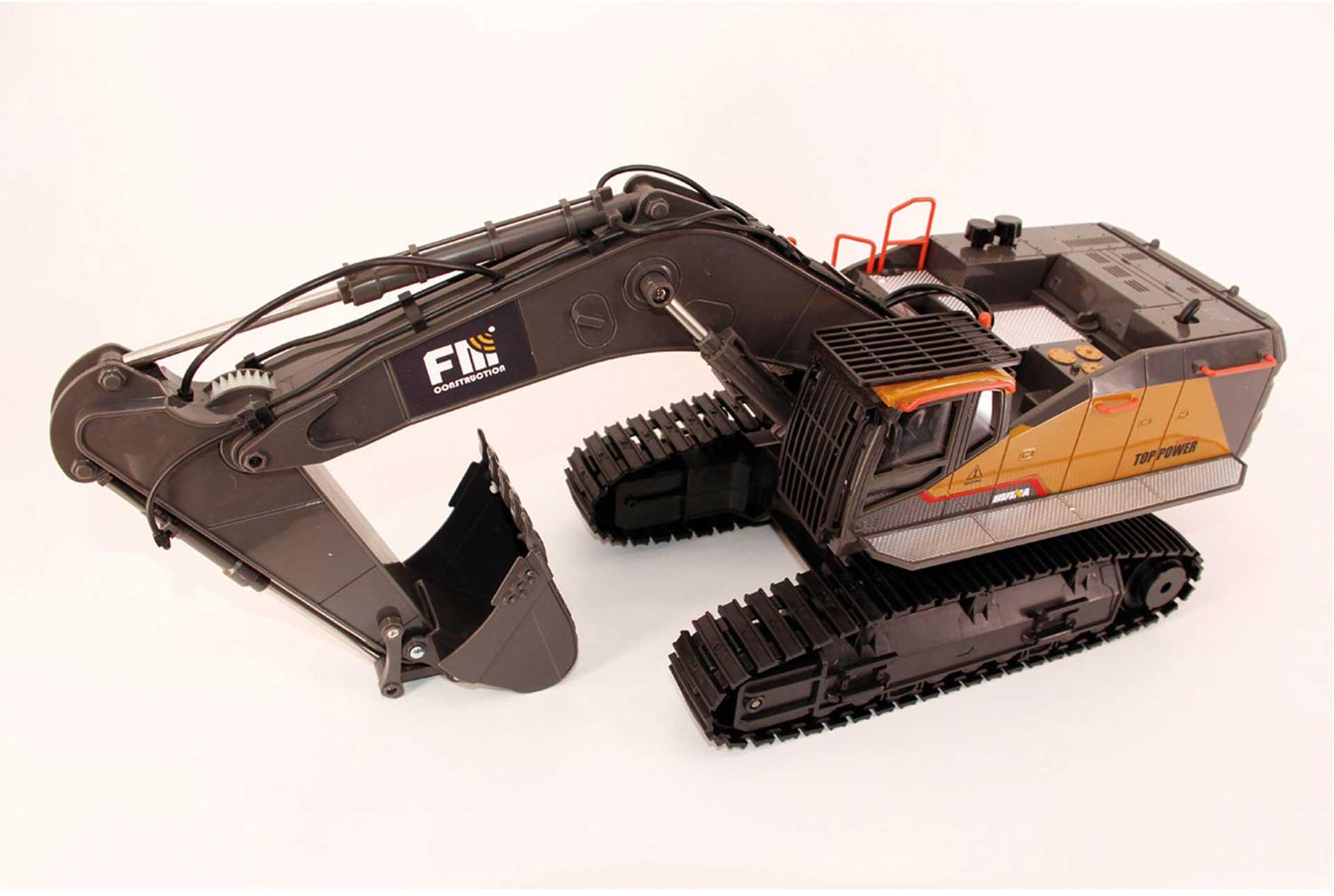 DIE-CAST CHAIN EXCAVATOR XL 1/14 2,4GHZ WITH METAL SHOVEL AND SOUND MODULE