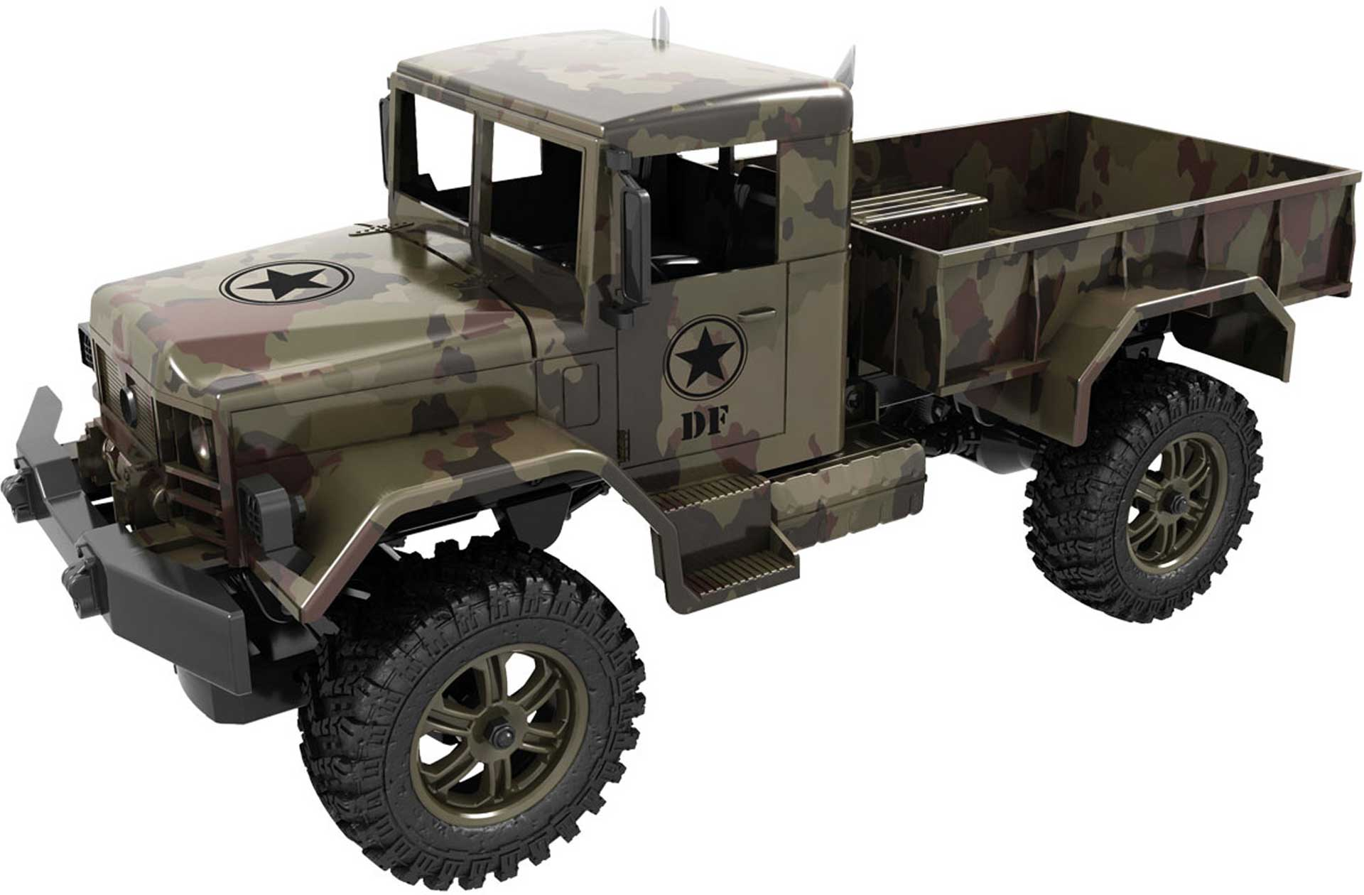 DRIVE & FLY MODELS M1 MILITARY TRUCK 4WD RTR 1/12