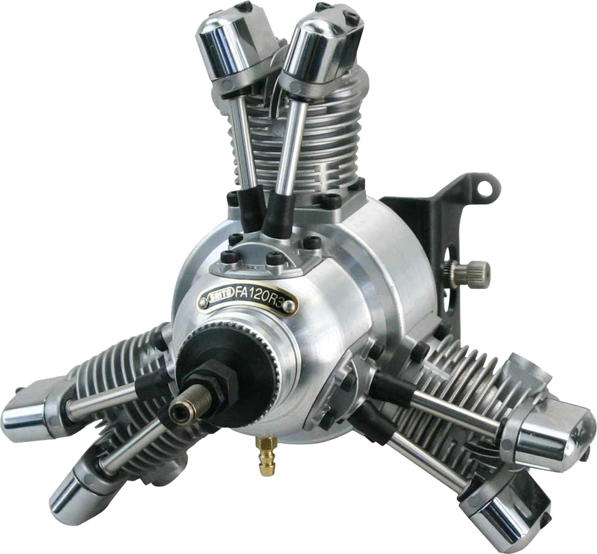 SAITO FA-120R3 3-CYLINDRES MOTEUR THERMIQUE  RADIAL