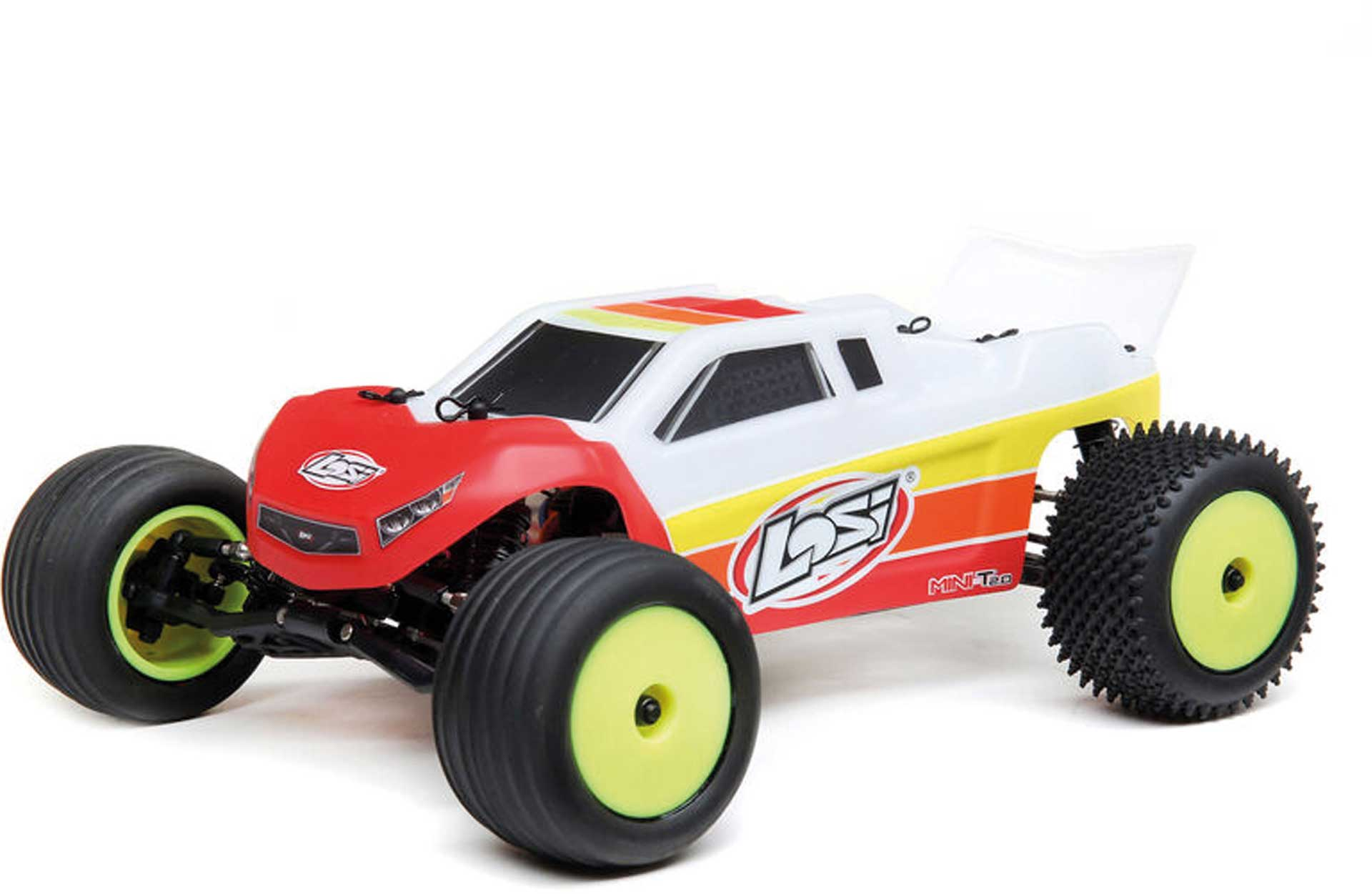 LOSI Mini-T 2.0 2WD Stadium Truck 1/18 RTR Brushless Red/White