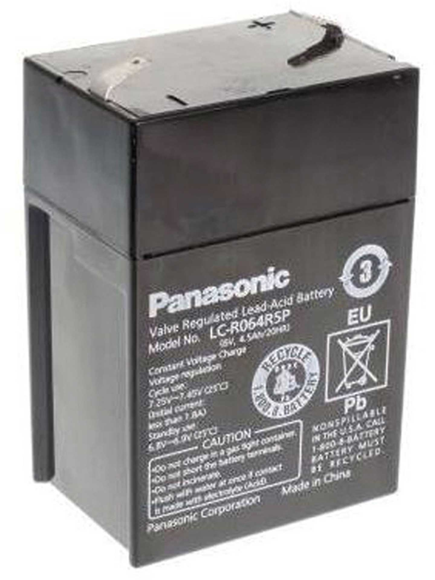 PANASONIC LEAD BATTERY 6V 4,5AH