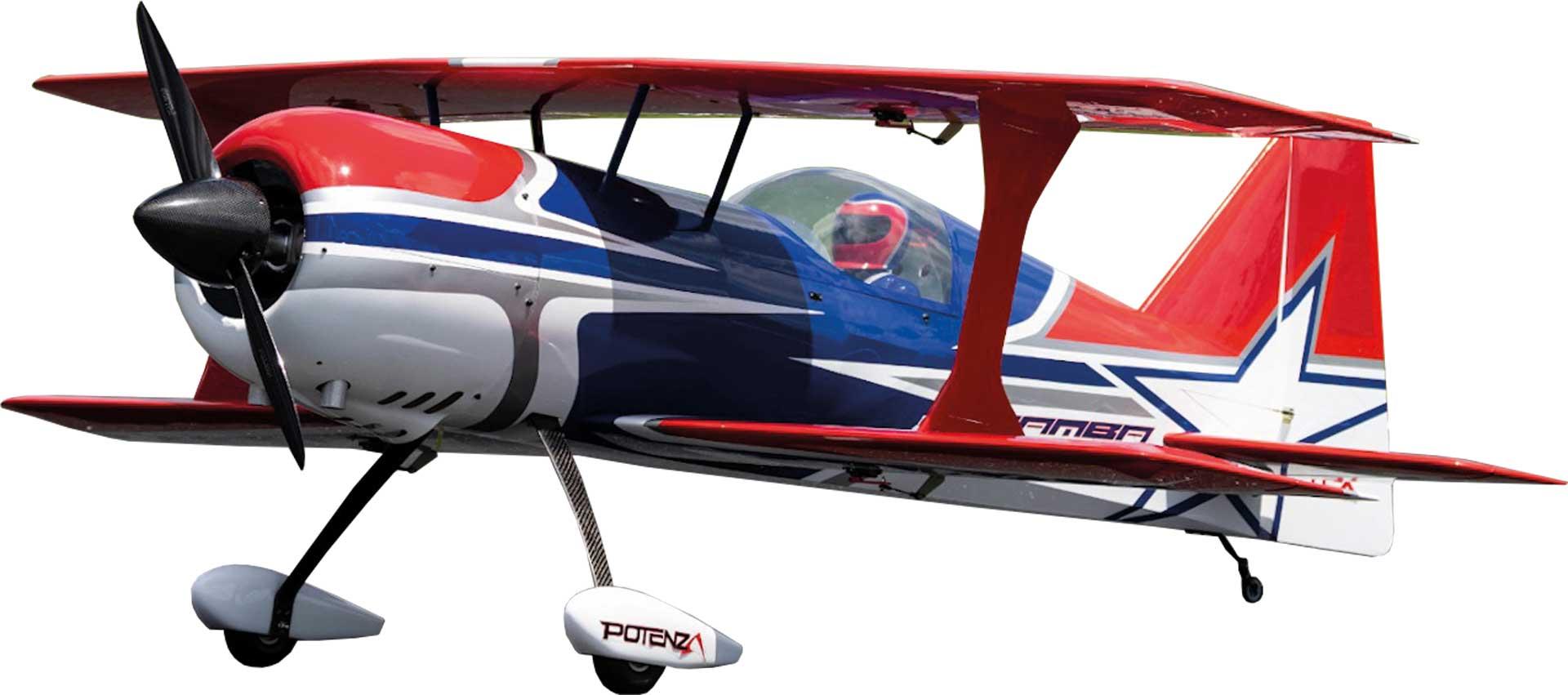 PREMIER AIRCRAFT MAMBA 120CC BLEU  ARF BIPLAN
