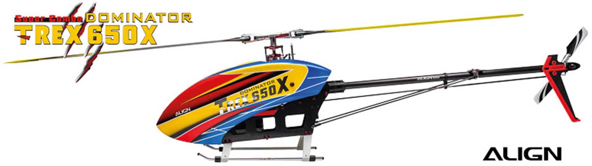 ALIGN T-REX 650X Dominator Super Combo (6S) Hubschrauber / Helikopter