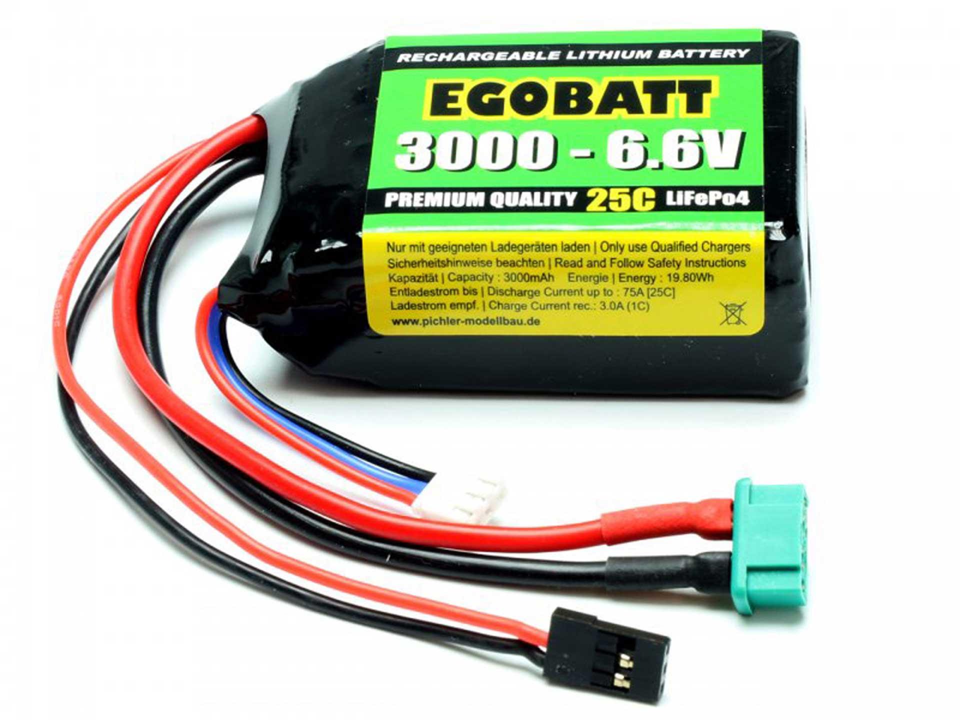 PICHLER LiFe Akku EGOBATT 3000 - 6.6V (25C)