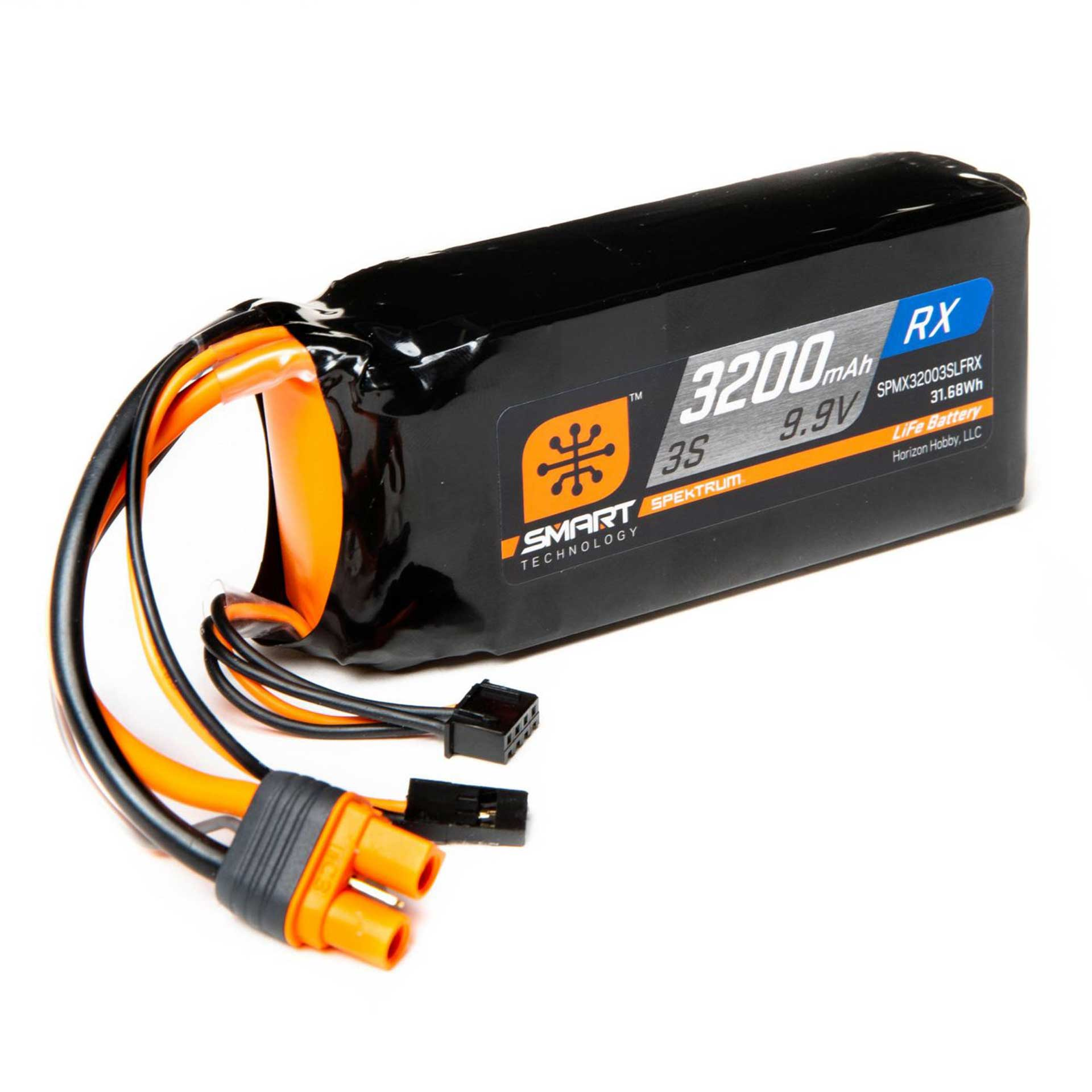SPEKTRUM SMART LIFE ECU BATTERY PACK: IC3 & SERVO CONNECTOR 3200MAH 3S 9,9V
