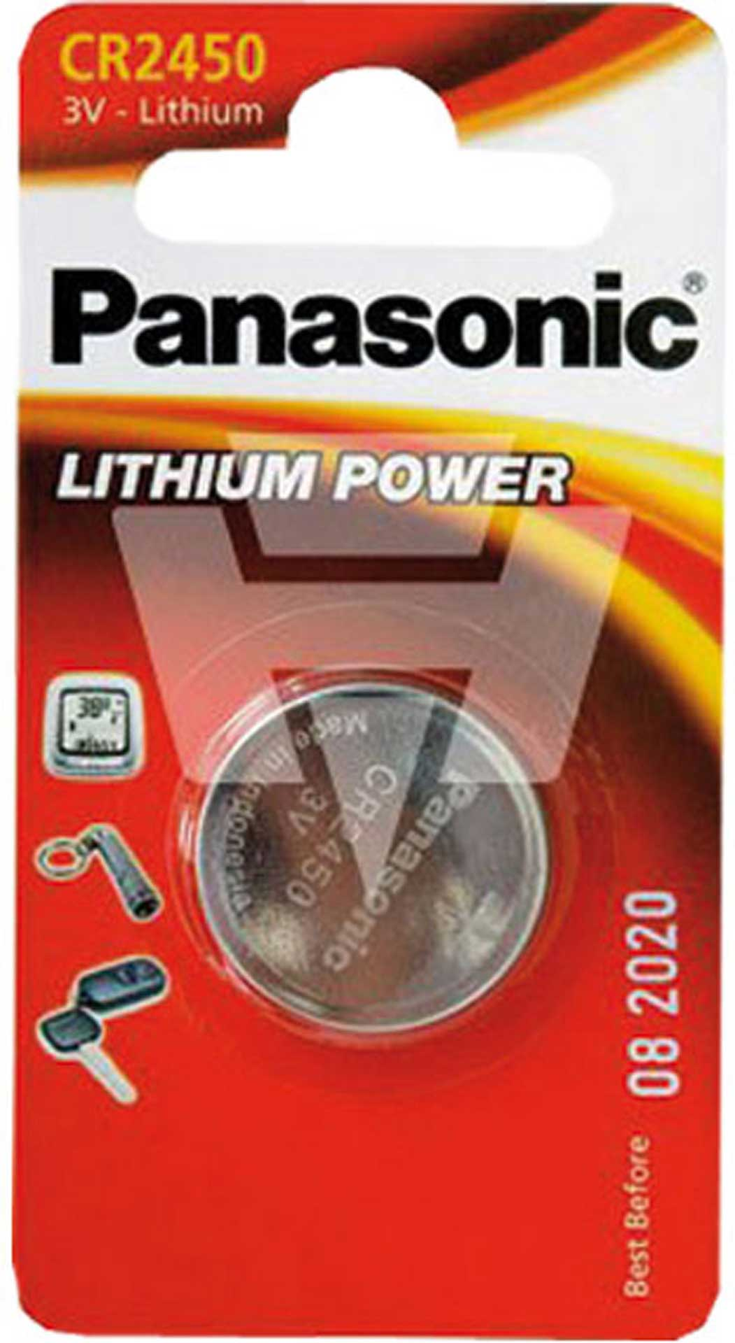 PANASONIC LITHIUM BUTTON CELL BATTERY CR2450 3V 1 PCS