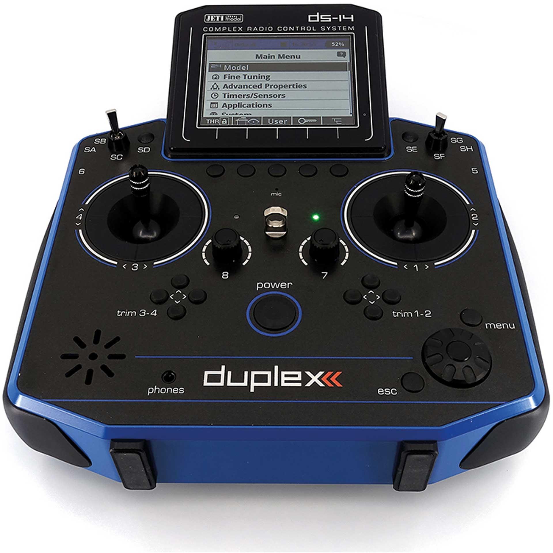 JETI DS-14 II BLEU   Multimode 2,4Ghz Radiocommande RC