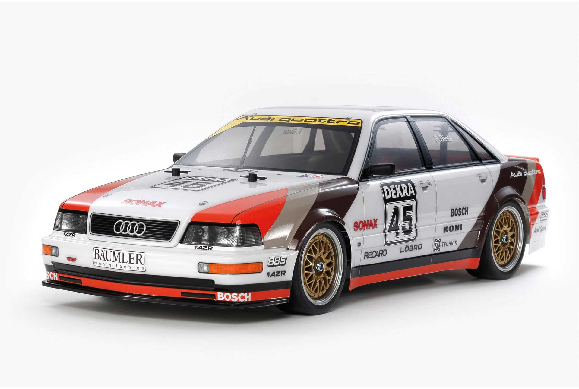 TAMIYA Audi V8 1991 Touring Car (TT-02) 1/10 KIT 4WD No.45 von 1991 Frank Biela