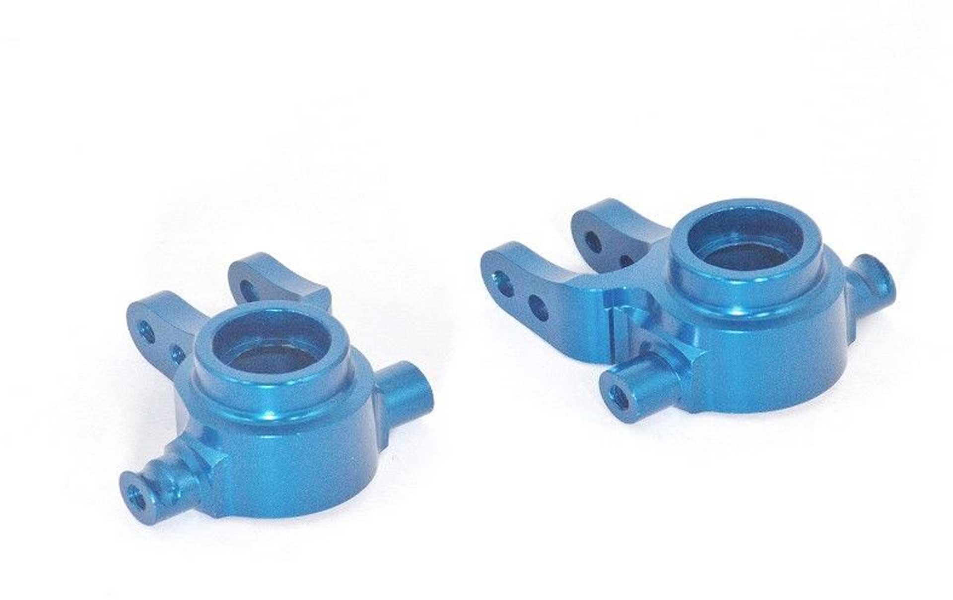 ALLOY FRONT KNUCKLE ARM - 1PR SET blue GPM TRX 1 /10 SLASH 4x4 RALLY STAMPEDE/RUSTLER/HOS