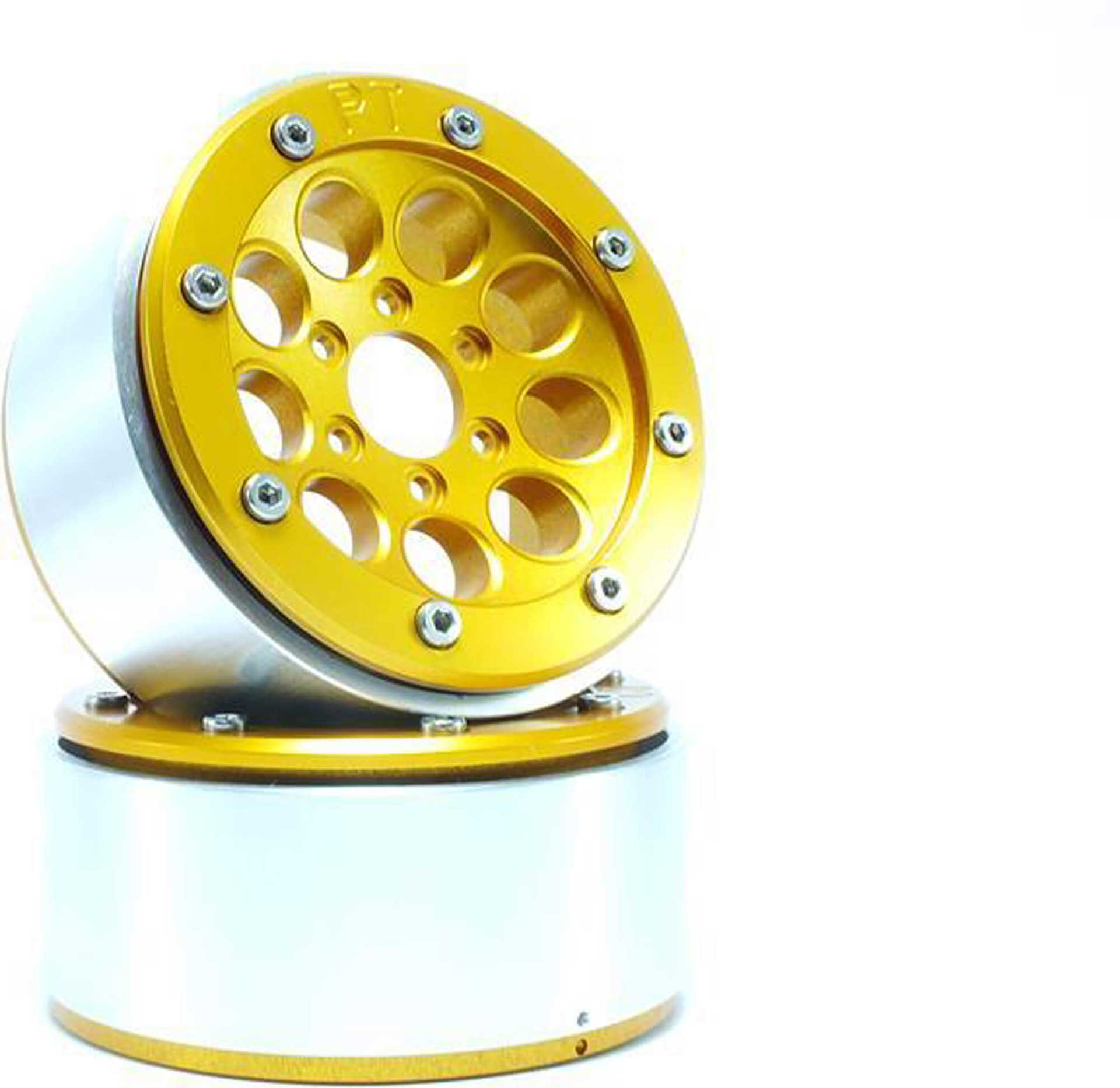 Metsafil Beadlock Wheels GUN gold/gold 1.9 (2 St.) ohne Radnabe