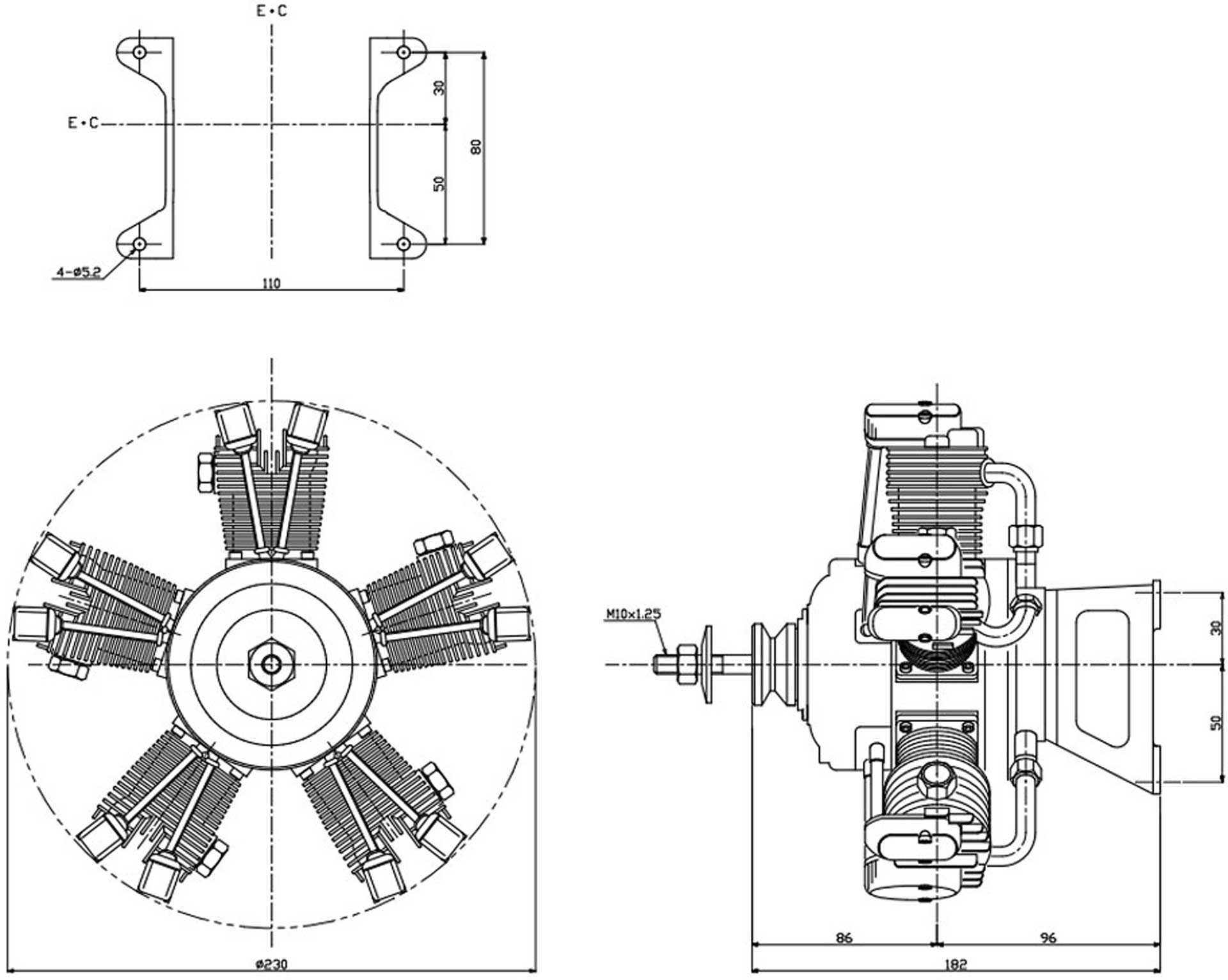 SAITO FG-73R5 BENZIN MOTOR 5-ZYLINDER
