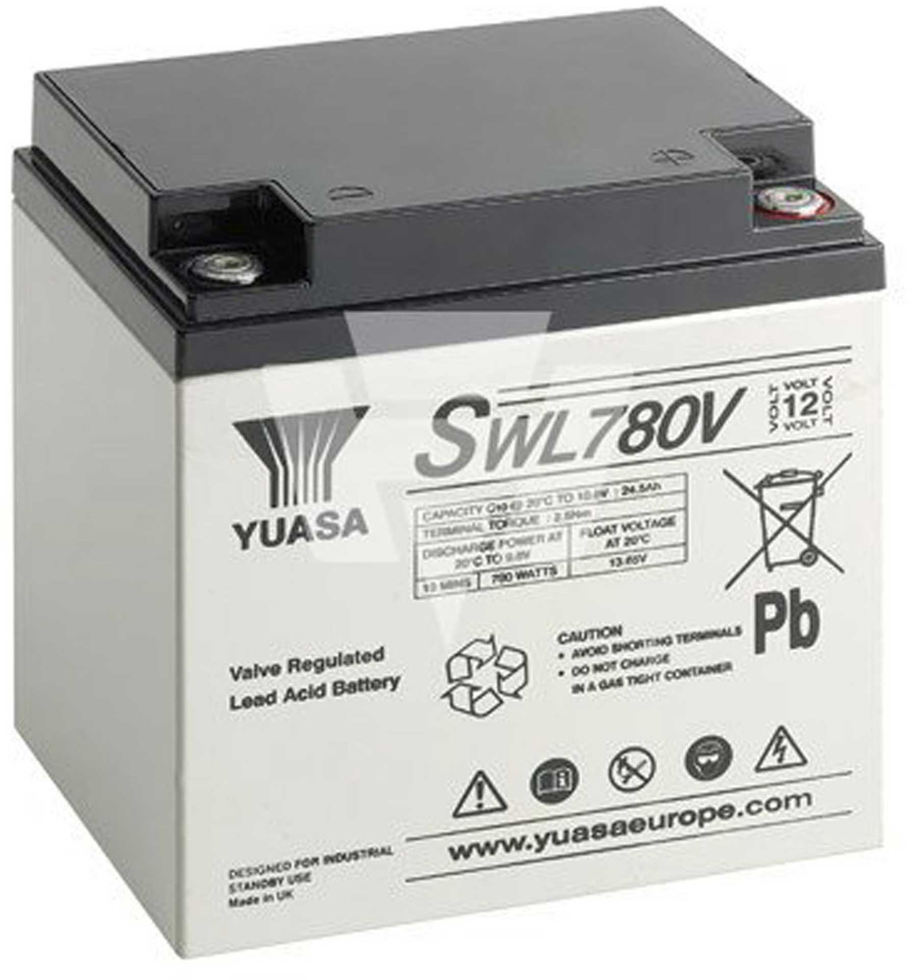 YUASA LEAD-ACID BATTERY SWL780V PB 12V/28800MAH