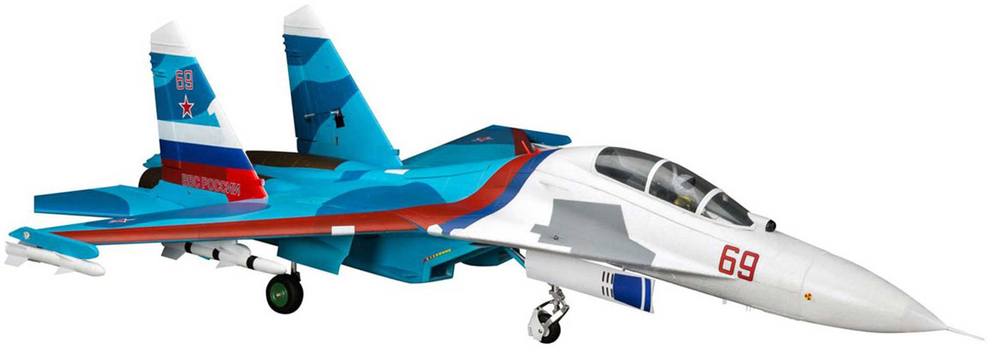 E-Flite SU-30 TWIN 70MM EDF BNF BASIC AS3X AND SAFE