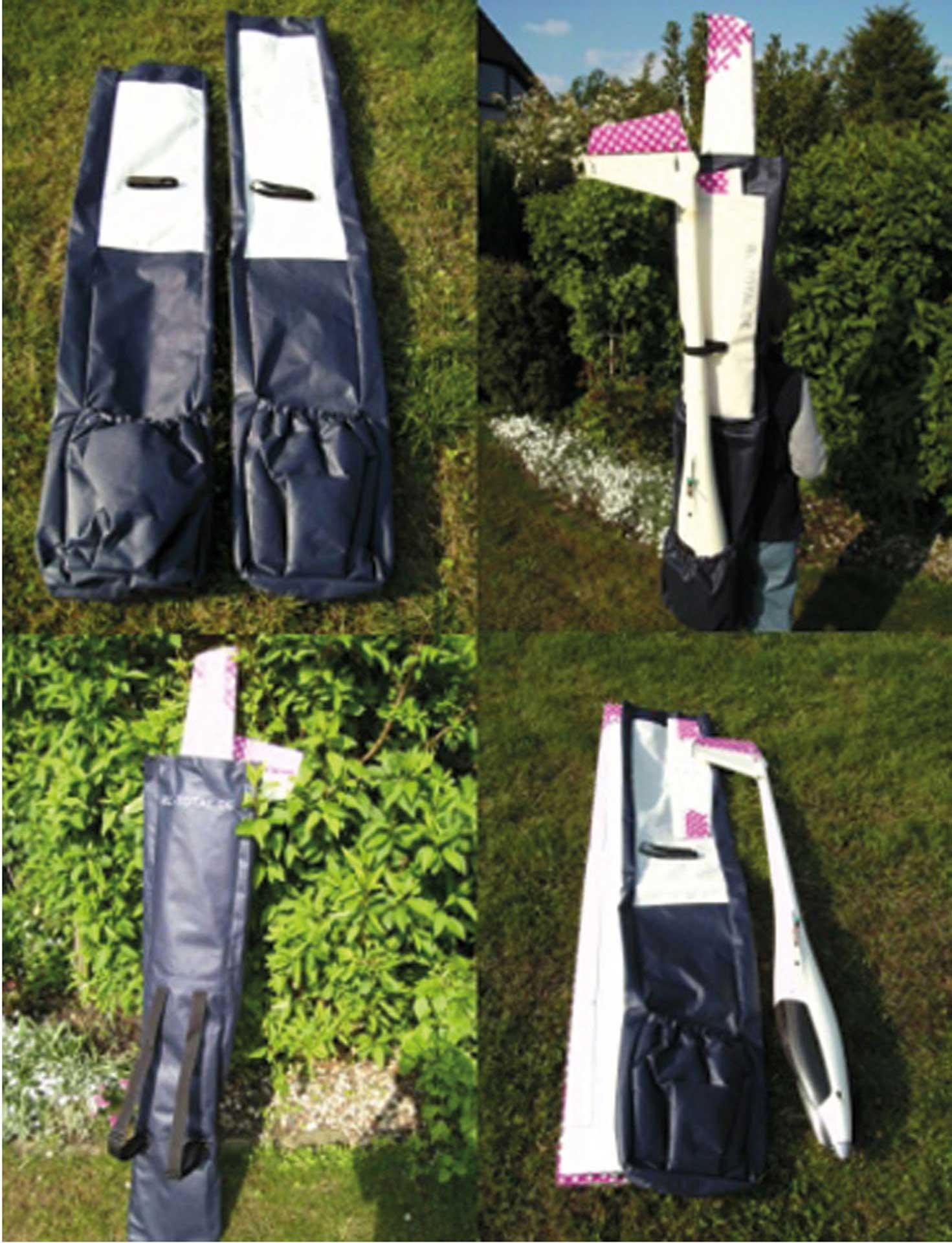 MODELLBAU LINDINGER MODEL BACKPACK 175 ECO 175/34/13CM TRANSPORT BACKPACK FOR GLIDERS