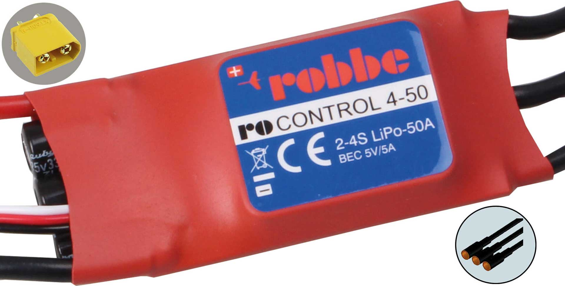 ROBBE RO-CONTROL 4-50 2-4S -50(70)A BL CONTROLLER 5V/5A SWITCH-BEC