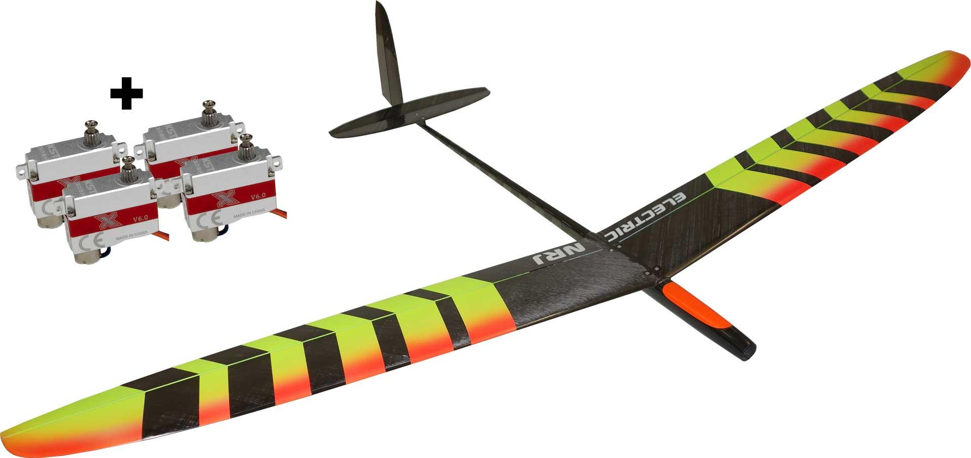 OA-Composites NRJ F5K Electric + KST X08H Servoset Farbe # C Gelb/orange