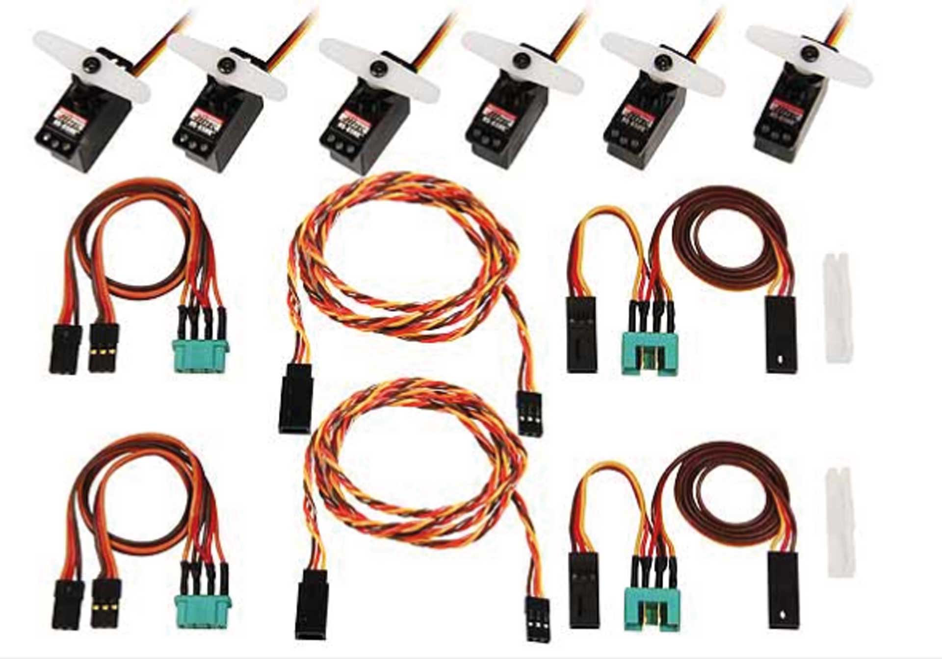 Multiplex Servoset mit Kabelsatz Lentus