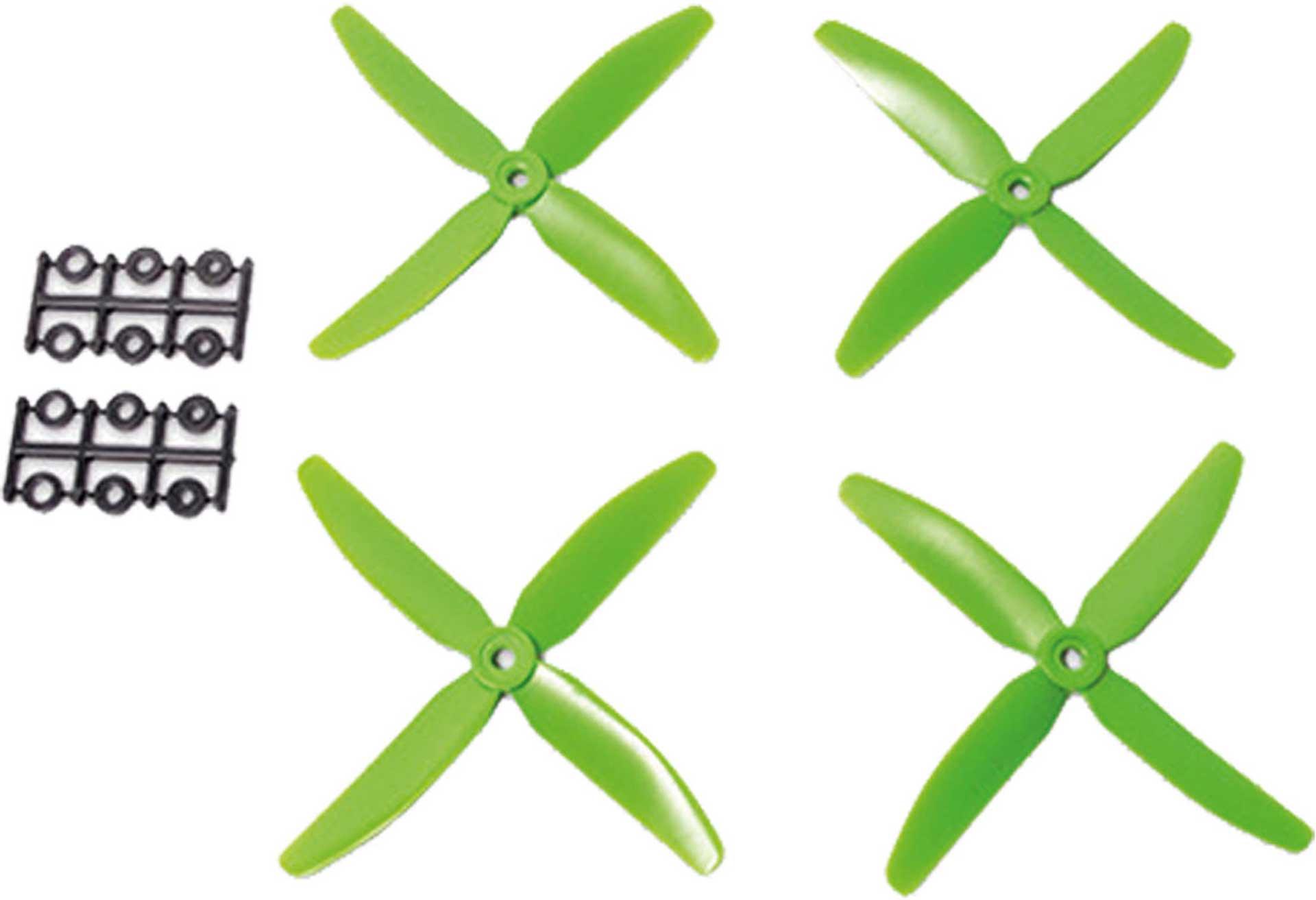 HYPERION 5X4 4-BLADE PROPELLER GREEN CW & CCW 2 PAIR