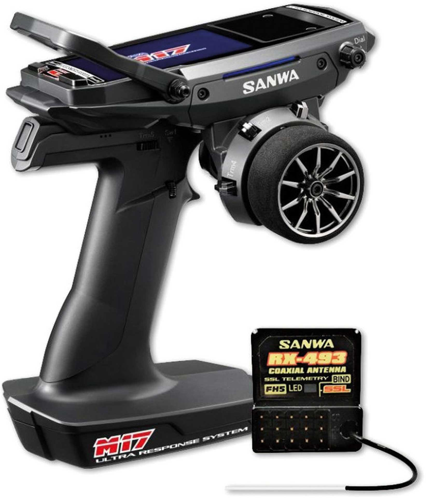 SANWA M17 with RX-439 Receiver CH4 2,4GHZ FH5