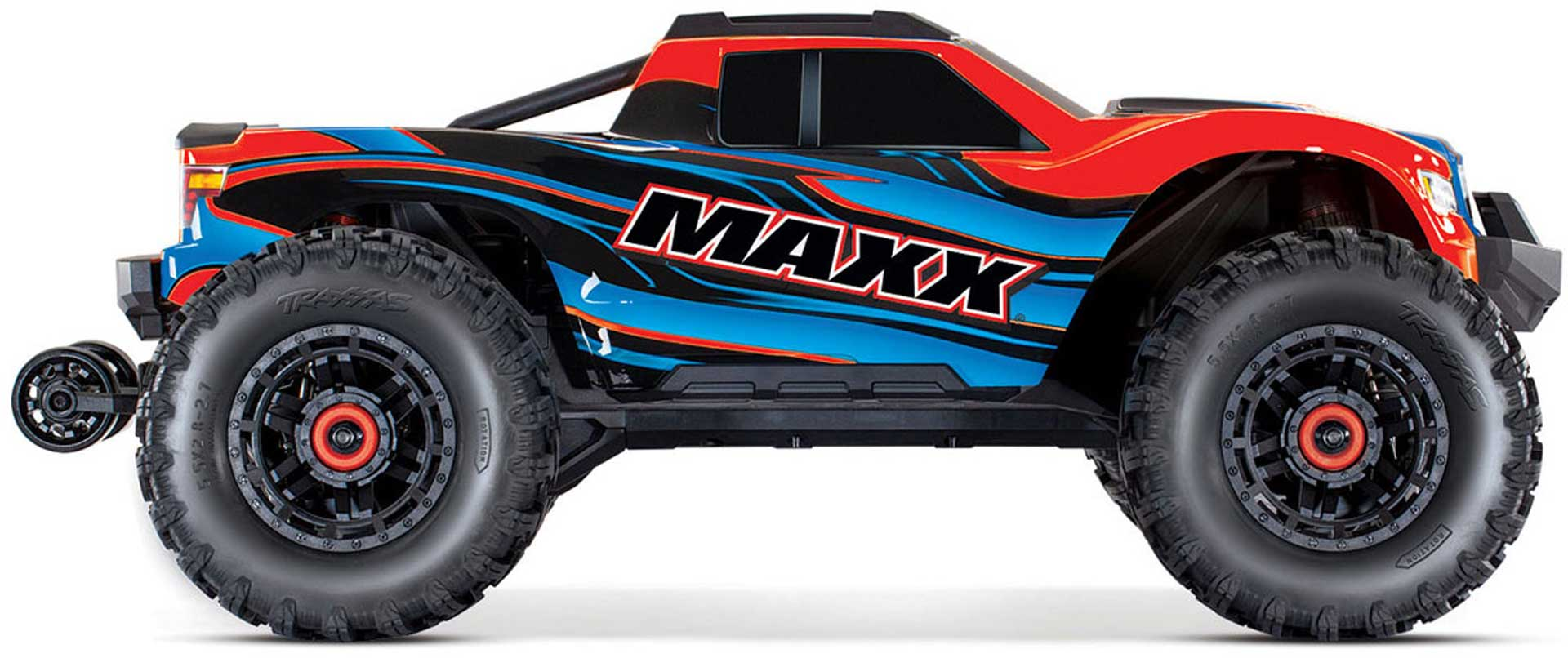 TRAXXAS MAXX ROT/BLAU 1/10 RTR TSM SR VXL-4S OHNE AKKU UND LADER