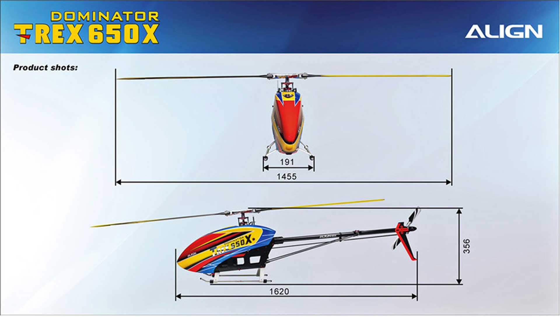 ALIGN T-REX 650X Dominator Combo (12S)