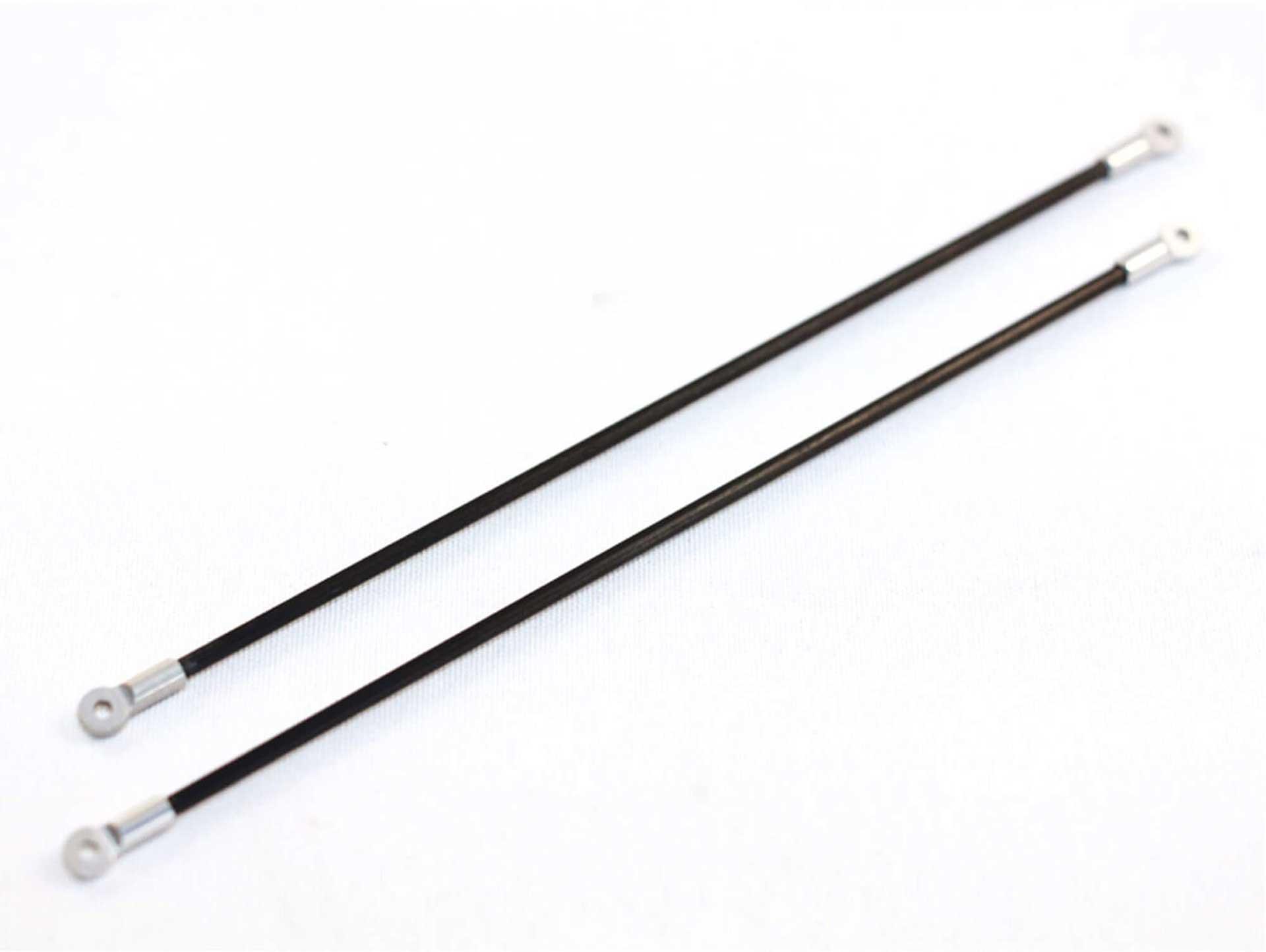 STAUFENBIEL Blade 180 CFX: Tuning boom support set CFK/Alu