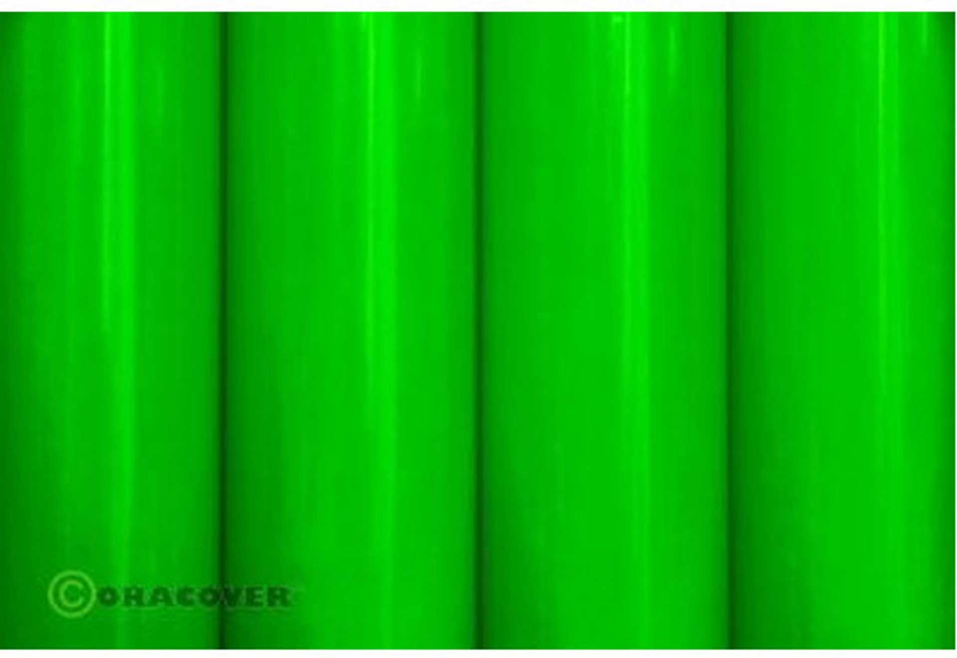 ORACOVER Adhesive Foil GREEN FLUORESCENT 1 Meter # 41 Orastick