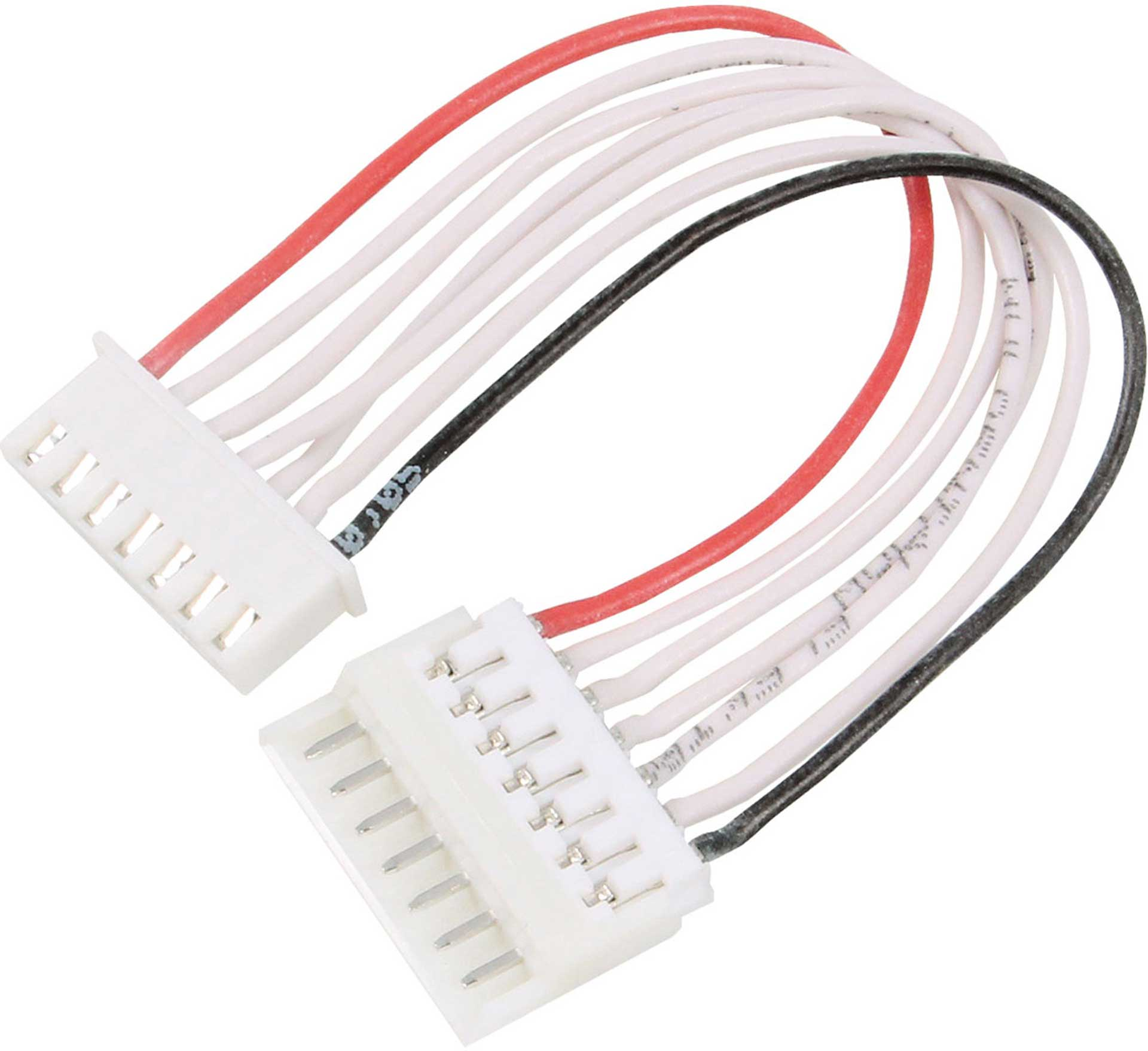 MODELLBAU LINDINGER SENSOR ADAPTER CABLE EH TO XH 6S SILICONE, 10CM, 7-PIN, 0,25QMM, 1PCS.